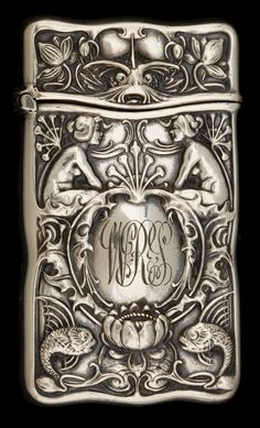 Silver match safe by Gorham Manufacturing Co, ca.1900