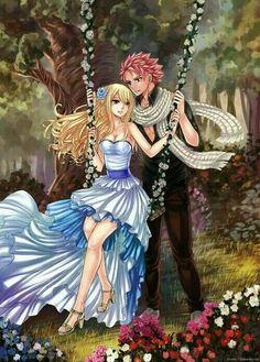 Lucy Heartfilia and Natsu Dragneel - Nalu Fairy Tail Nalu, Fairy Tail Ships, Fairy Tail Natsu And Lucy, Fairytail, Jellal, Gruvia, Fairy Tail Family, Fairy Tail Couples, Anime Fairy