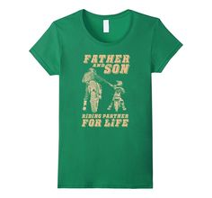 Father And Son Riding Partners For Life T-Shirt- Father Day