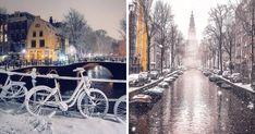 I Photographed Amsterdam During Heavy Snowfall | Bored Panda