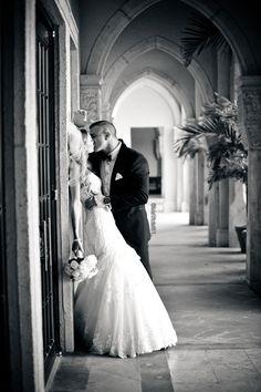 Photo by Michelle Lawson Photography. I love this moment caught on photo ♥ newlywed kiss #wedding #weddingideas #inlove #weddingdress #brideandgroom #weddingdressideas #mstriciasfl #blushweddingdress #pinkweddingdress #MaggieSottero #designerweddingdress #bocaresort