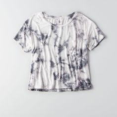 AEO Soft & Sexy Sky High T-Shirt ($19) ❤ liked on Polyvore featuring tops, t-shirts, crew neck tee, sexy t shirts, tie dyed t shirts, crewneck t shirt and crew t shirt
