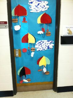 Cloudy with a chance of meatballs door decoration.