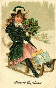 Victorian Christmas Card   ~ Ephemera