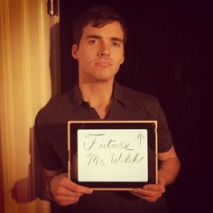 """Ian Harding- Ezra Fitz"" can we all take a minute to see that he said future mr WALSH! Dear god thank you"