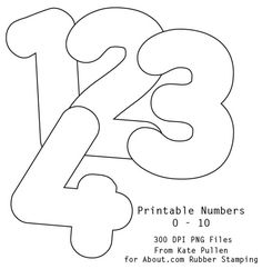 It's As Easy As 1-2-3 To Use Our Free Printable Numbers Digital Stamps: Free Printable Numbers/Digital Stamps 0 - 9