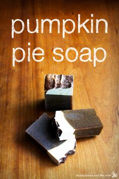 Pumpkin Pie Soap! MMmmmmm- what a wonderful treat to set out for Fall House guests!