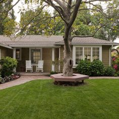 Traditional Home 1950s ranch exterior remodeling Design Ideas, Pictures, Remodel and Decor - colors