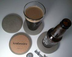 Conjunto de montaña grande bebida concreta de delgado y liso de hormigón de kreteware 4-