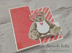 The Craft Spa - Stampin' Up! UK independent demonstrator : Tutorial for Small Square Pop Up Z Fold Card