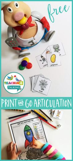 This fun freebie is actually a sample from the Articulation Print & GoValue Bundle– one of my BEST SELLING products on TPT featuring 24 target sounds! This huge bundle of speech therapy activities contains several projects that are sure to keep your mixed articulation groupsentertained all year round.Best of all, they are easy to prep…simply …