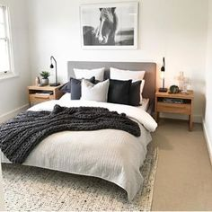 Simple Style Co Homewares, Home Decor & Interior Styling Melbourne is part of Bedroom decor inspiration - Bedroom Apartment, Home Decor Bedroom, Apartment Living, Spare Bedroom Ideas, Bedroom Inspo, Spare Room, Master Bedrooms, Urban Chic Bedrooms, Industrial Bedroom Decor