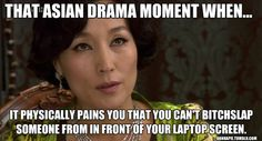 I so want to do this everytime! And in this drama she got a happy ending smh