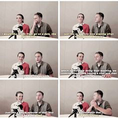 FitzSimmons talking about a good date, a good episode. I would watch that! 2015 SDCC, Marvel's Agents of S.H.I.E.L.D.