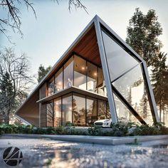 Villa Design, Modern House Design, Design Design, Cavo Tagoo Mykonos, Unique Architecture, Futuristic Design, Modern Buildings, Exterior Design, House Ideas