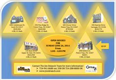 Stop by 1 OR ALL of these fantastic homes THIS Sunday!!  Call 724-941-8680 ext. 208 for details! #Pittsburgh #OpenHouse #realestate