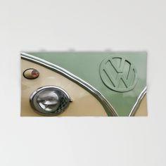 VW Camper Classic Hand & Bath Towel #towel #bathroom #VW #Volkswagen #Camper #Bus #retro #hand #bath #beach #home