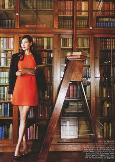 """Library Days"": The Sancta Sophia College Library, Sidney, by Prue Ruscoe for Country Style . with my new favorite librarian."