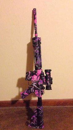 Muddy girl camo AR 15