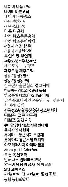 """""""저작권 문제 없나?""""…무료 한글 글꼴 37종 총정리"""