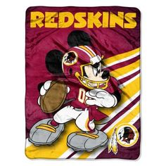 "Redskins 46""x60"" Mickey Micro Raschel Throw (NFL)"