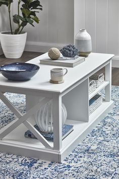 Hamptons Coastal Coffee Table by Temple & Webster. Get it now or find more Coffee Tables at Temple & Webster. Hamptons Living Room, Hamptons Bedroom, Hamptons Style Decor, Hamptons House, The Hamptons, Side Table Decor, Table Decor Living Room, My Living Room, Hampton Furniture