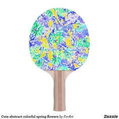 Shop Cute abstract colorful spring flowers Ping-Pong paddle created by ForArt. Sustainability Projects, Ping Pong Paddles, Spring Flowers, Two By Two, Colorful, Abstract, Cute, Prints, Design
