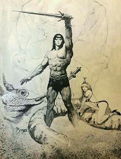 Fantasy Sword, Dark Fantasy, Conan The Barbarian, Sword And Sorcery, Red Sonja, Nostalgia, Story Characters, Rey, Sci Fi