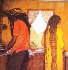 Posts about Black Art written by Rastafari Art, Rastafarian Culture, Rasta Art, Natural Hair Art, Black Artwork, Couple Drawings, Afro Art, My Black Is Beautiful, Beautiful People