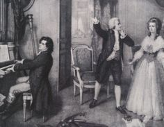 Beethoven plays for Mozart on his first visit to Vienna aged 16