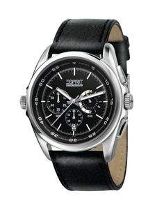 Esprit Man Chronograph I Black    €130.08   Model: Esprit Man Chronograph I Black  Movement: Analogue Quartz  Functions: Hours, Minutes, Seconds, Date,Chronograph  Case: Stainless Steel  Bracelet: Leather      (Para residentes em Portugal, ao preço listado acresce o IVA à Taxa em vigor)