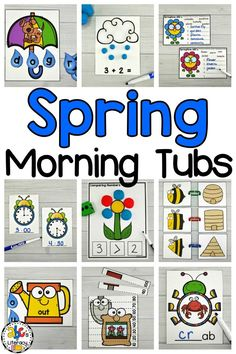 Morning work shouldn't be boring! These Spring Morning Tubs are fun, independent activities that your students use to learn and review literacy and math concepts. These May Morning Tubs are also an engaging and entertaining way to start the day. This set includes 5 literacy and 5 math morning tubs that are perfect for preschoolers, kindergartners, and first graders. Click on the picture to learn more about these hands-on morning work activities! #springmorningtubs #morningtubs #maymorningtubs