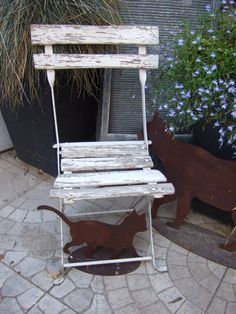 Vintage French Child's wooden Folding Slat and by JacquelineMcEwan, €46.00