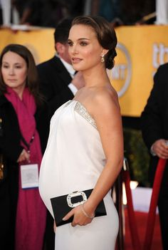 Maternity Wedding Gown Dress Ideas- Natalie Portman at the Screen Actors Guild Awards... I love this dress!