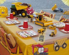 Construction Birthday Party Package includes tableware, decor, party favors, & activity. Shop now @ RevelBee.com