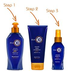 Three steps to your heathiest hair yet! Learn more about the benefits of our Keratin Collection: http://www.itsa10haircare.com/plus-keratin-collection/