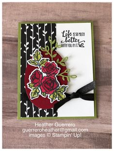 Stampin' Up! new Occasions Catalog stamp set Petal Palette.  Added some color with the new Stampin' Blends. #stampinup #petalpalette