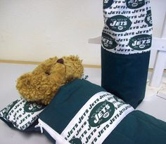Doll or Teddy Bear Sleeping Bag in NY Jets Logo print by TakeMeWith, $33.00