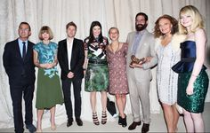 The winner and runners-up with Steven Koib, Anna Wintour, Christopher Bailey, Diane von Furstenberg, and Emma Stone at the 2012 CFDA / Vogue Fashion Fund Awards