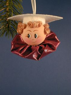 Graduate Boy Ornament by clotheslinecuties on Etsy