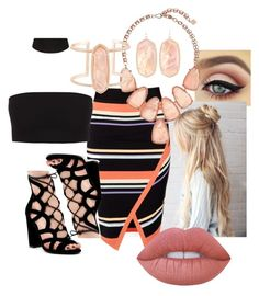 """""""Untitled #202"""" by krisxinfinity on Polyvore featuring Ted Baker, Kendra Scott and Lime Crime"""