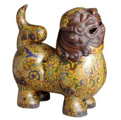 CHINESE FOO DOGS | Chinese Cloisonne Foo Dog at 1stdibs