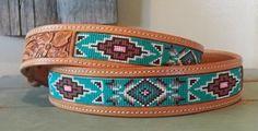 Hand made special order beaded belt. by Deesbeadeddogcollars