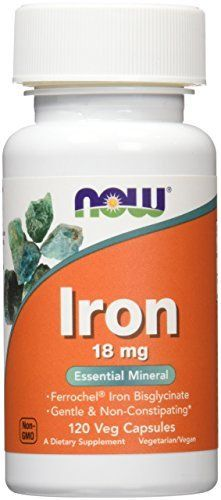 Now Foods Iron 18mg Ferrochel, Veg-capsules, 120-Count //Price: $6.79 & FREE Shipping //     #hashtag3