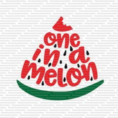 one in a melon, svg, vector, files, decal, summer, beach, water, first birthday, kids, toddler, cameo, cricut, clip art, design, file
