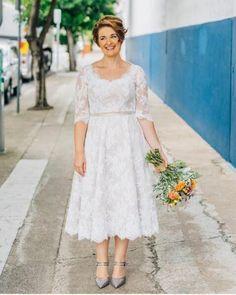 3db7ea6e9f1 2017 Hot Selling Short Lace Plus Size Wedding Dress Half Sleeve throughout Plus  Size Wedding Dresses