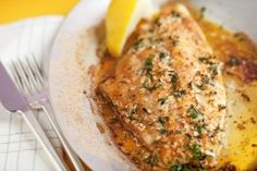 Broiled Catfish with Fresh Thyme, Garlic, and Lemon