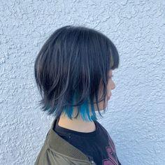 Two Color Hair, Hair Color Streaks, Pretty Hair Color, Asian Short Hair, Asian Hair, Short Hair Cuts, Shot Hair Styles, Edgy Hair, Hair Reference