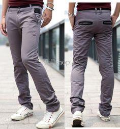 Pocket trim cotton style Casual pants – teeteecee - fashion in style Cotton Style, Jeans Pants, Casual Pants, Parachute Pants, Pocket, Men, Fashion, Flare Leg Jeans, Moda