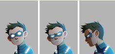 The faces of Damian Wayne